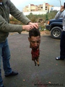 The animal's head  (suicide bomber )