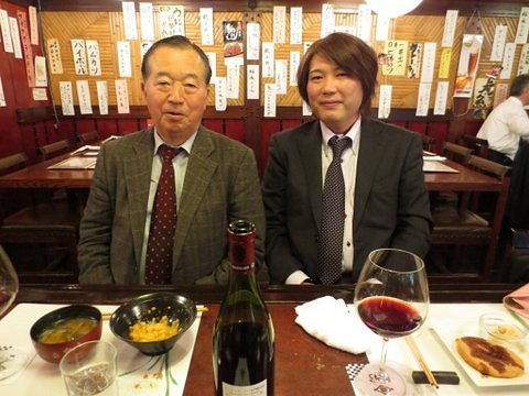Poor, lost soul, and subsequent #orangette, Haruna Yukawa, enjoying a rare moment of luxury, while fine-dining, in Tokyo, with Motohide Yoshikawa, Japan's Ambassador to the United Nations.