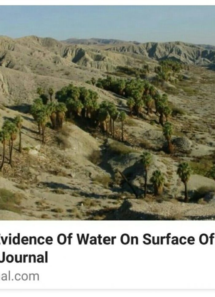 NASA finds water in California but no intelligence yet