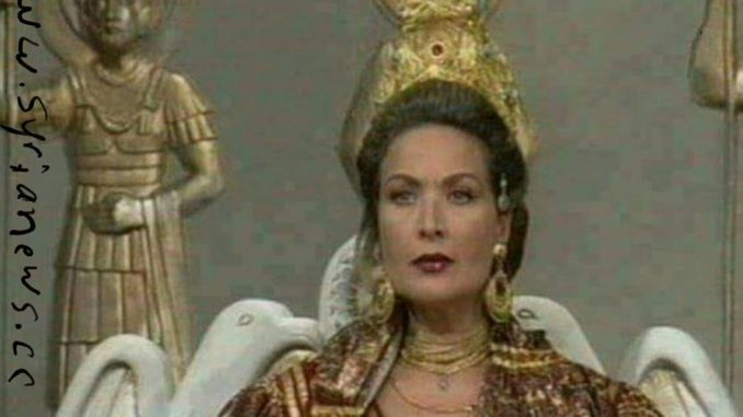 Syrian superstar Raghda playing Queen Zanobia of Palmyra