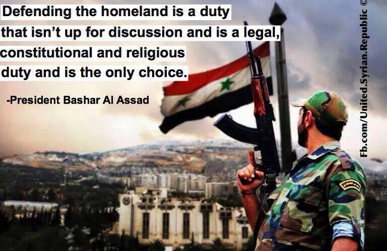 SAA soldier - Syria flag