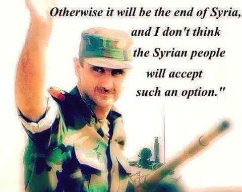 image- Assad: Syrians will accept only victory