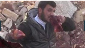 Cannibal Abu Sakkar, whose perverse deviance was romanticized by 'respected' news media.