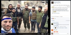 """Mahmoud Rslan, WH humanitarian who took """"iconic"""" photo, poses with terrorists who beheaded 12 year old Abdullah Issa"""