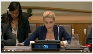 Ward addressing the UN meeting of criminal liars