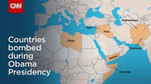 countries bombed during Obama presidency