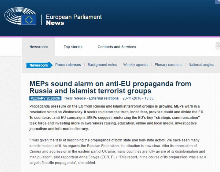 globalist useful idiot MEP statement