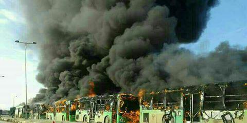 image-Busses Burnt Buses en-route to Kafraya