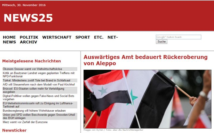 German Foreign Office weeping over reunification of Aleppo