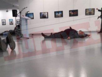 image-Russian Ambassador to Turkey Andrey Karlov Shot