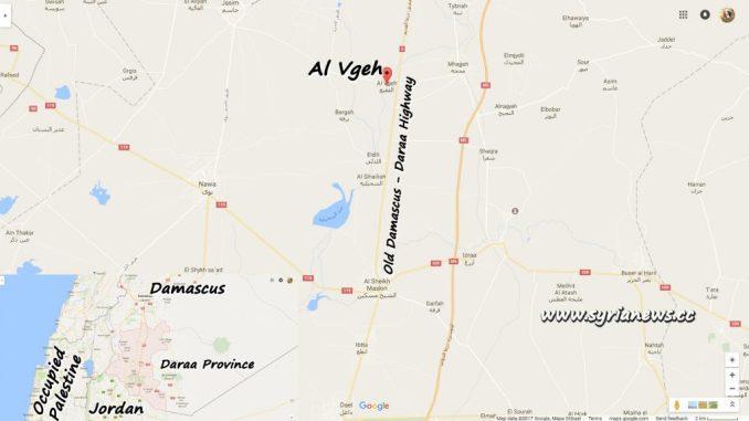 image-Al Vgeh Map - Daraa Northern Countryside near Damascus - Daraa Old Highway
