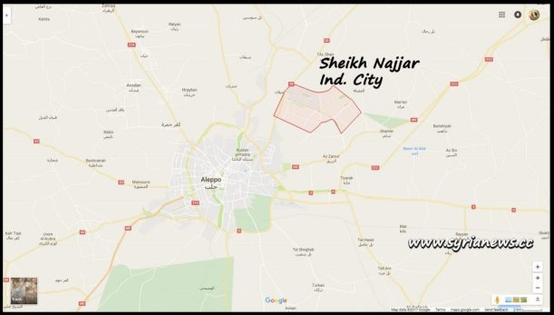 image-Sheikh Najjar Industrial City Map- Aleppo Countryside