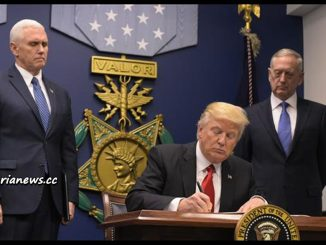 image-Trump Signing Executive Order Banning Muslims from 7 Countries Entry to USA