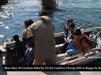 More than 30 civilians killed by US coalition fleeing Raqqa by boats