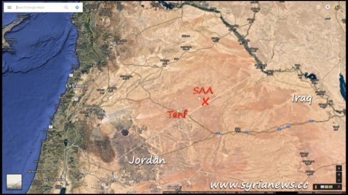 Syrian Arab Army SAA Arrives at Iraqi Borders Northeast of Tanf