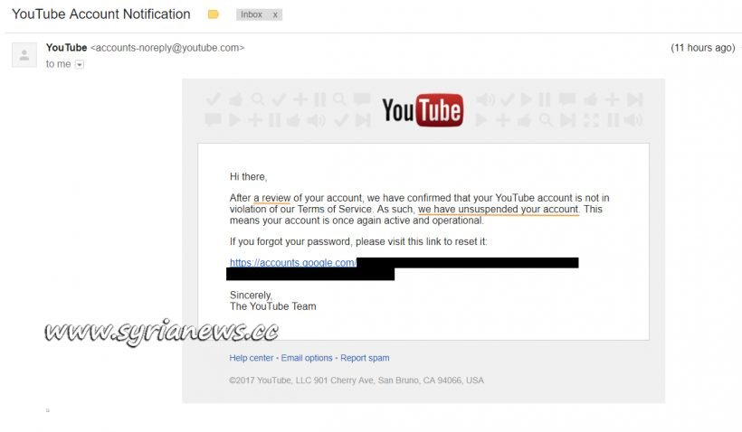image-YouTube Re-Instates our Channel
