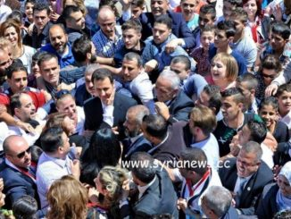 Syria President Bashar Assad among his people - SAA - Damascus SDF iran