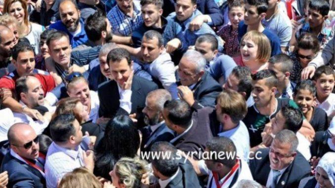 Syria President Bashar Assad among his people - SAA - Damascus SDF iran