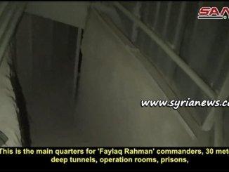 Faylaq Rahman Headquarters and Prison in Zamalka, East Ghouta