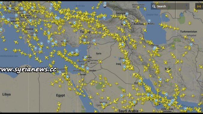 image-Flight Status Over Syria After Warning of US Attack - Source: www.flightradar24.com
