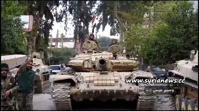 image-SAA Syrian Arab Army Republican Guards Storming ISIS in Yarmouk Camp