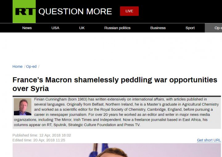 Macron won't forgive Syria for evacuation of French occupiers.