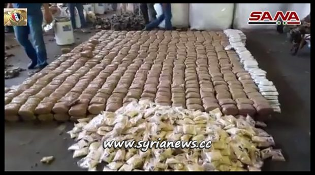 Syrian Customs Confiscate 1750 Kgs of Hashish (Hash)
