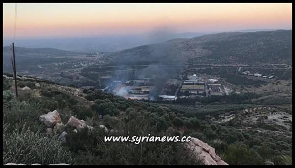 Israeli jets Bombs Near Missyaf - Syria from Over Lebanon