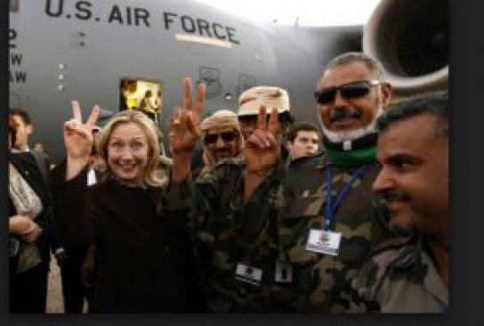 Clinton was also cheered by al Qaeda terrorists, in Tripoli