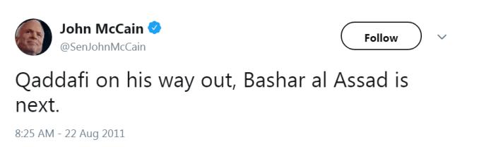 mccain gaddafi assad libya syria usa