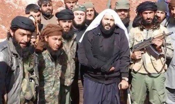 Group foto of Idlib civilians includes Saudi terrorist Muhaysini, on US's SDN terror list.