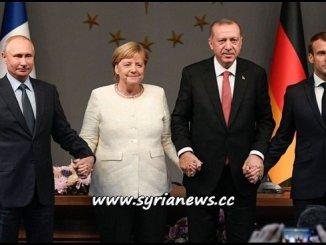 Istanbul Quadripartite Summit Syria - Russia Putin France Macron Germany Merkel Turkey Erdogan
