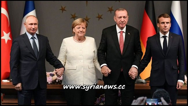 Istanbul Quadripartite Summit Syria - Russia Putin France Macron Germany Merkel Turkey Erdogan