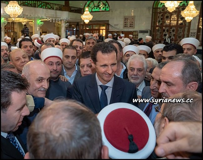 President Assad Joins Prayers on the Occasion of Prophet Muhammad's Birth Date