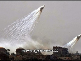 US-Led Coalition Use Internationally Banned White Phosphorous in its Crimes Against Humanity in Syria and Iraq جرائم التحالف الدولي بقيادة الولايات المتحدة ضد داعش في سوريا والعراق
