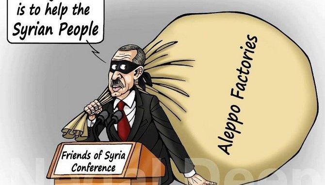 Erdogan: Syrian factories and economy thief