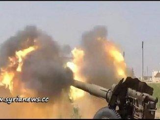 SAA Artillery - Syria - Syrian Arab Army مدفعية الجيش العربي السوري