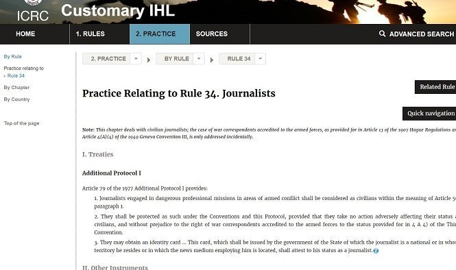 ICRC Journalists guideline