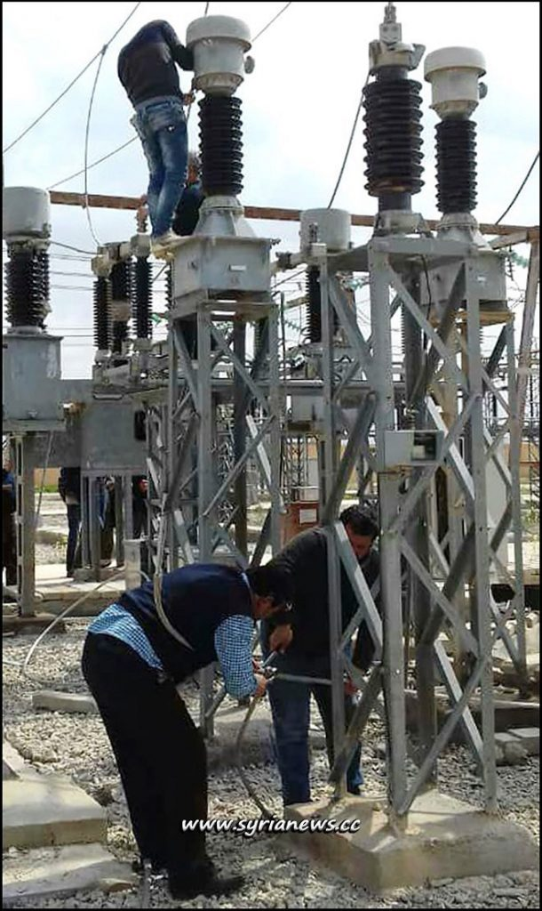Tadmor Palmyra Electric Power Transmission Station Repaired