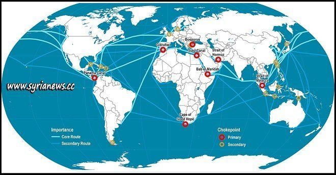 Shipping Choke Points around the World - Straits of Hormuz, Gibraltar, and Malacca