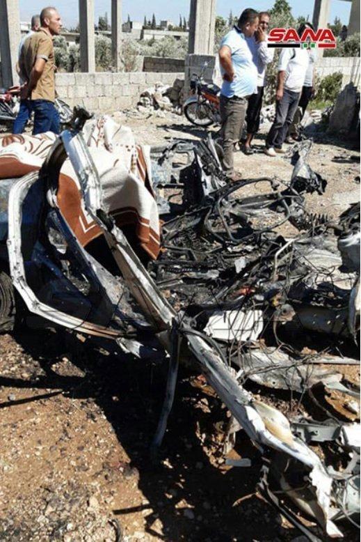 vehicle bombed