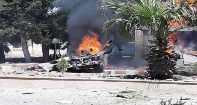 Trump regime mass killers blew up vehicle in Qahtaniyah Syria. Murder victims & injured tolls not yet released.