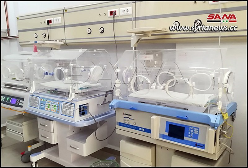 Incubators at The General Authority of Children's Hospital in Tartous