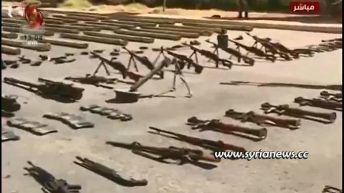 SAA and Counter Terrorism units discover more weapons and gears used by NATO terrorists in Syria