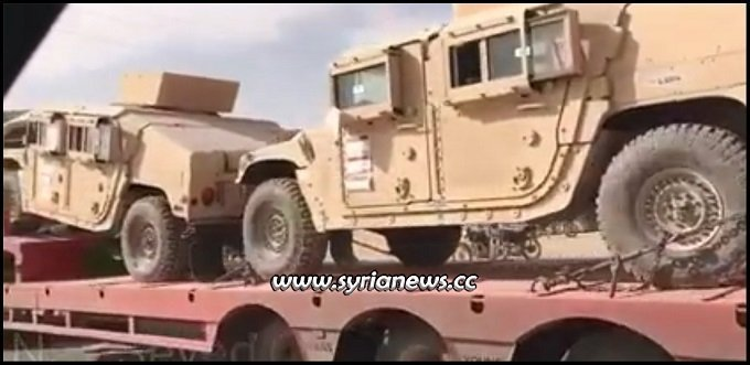 US Trump sends weapons and vehicles to sdf pkk ypg asayish kurds in Syria Hasaka Qamishli