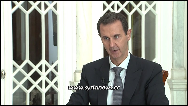 Syrian President Bashar Al Assad interview with Syria TV