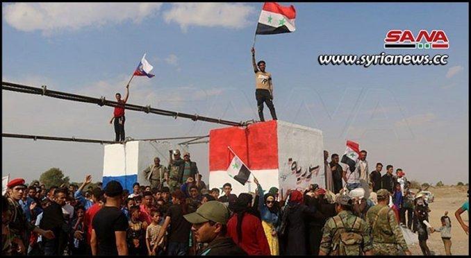 deir ezzor floating bridge - Syria