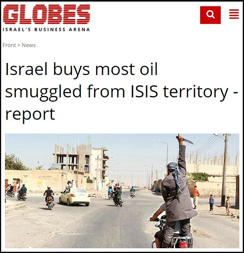 Israel Buys Most Oil Stole by ISIS from Syria