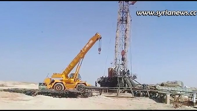 Syrian Petroleum Company SPC restoring oil and gas wells destroyed by terrorists in Tadmor Palmyra plains