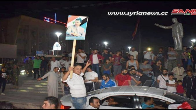 Syrians-celebrating-news-SAA-going-to-protect-them-in-Hasakah-from-Erdogan